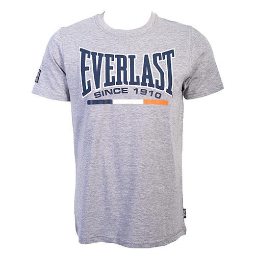 Футболка Everlast Sports Grey EverlastФутболки<br>Футболка Everlast Sports выполнена из хлопка. Модель прямого кроя. Детали: круглый вырез горловины, короткие рукава, контрастный логотип бренда. Состав: 100% Хлопок.<br><br>Размер INT: XL