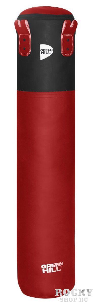 Боксерский мешок Green Hill Heavy Shell, искусственная кожа, 80 кг, 135*45 см Green HillСнаряды для бокса<br>Высота мешка 130 смДиаметр мешка 45 смВес набитого мешка 80-85 кгМатериал верха: искусственная кожаНаполнитель: Регенированное волокно, песочные гильзыТип подвесной системы : Цепь<br>Профессиональный боксерский мешок Green Hill с технологией набивки Heavy Shell. Боксерские мешки компании Green Hill наполняются регенерированным волокном с помощью пресса с контролем давления. Чтобы регулировать вес и баланс, вдоль оси всего мешка установлены песочные гильзы. Благодаря своим свойствам такое волокно не сбивается в комки, не проседает вниз мешка и не высыпается. Технология внутреннего шва мешка такова, что он выдерживает максимальную нагрузку при ударе. Техника прострочки и швейный материал образуют максимально прочное соединение. Армированные нити, и технология обратной обработки шва позволяют выдерживать удар до 1000 кг.<br>