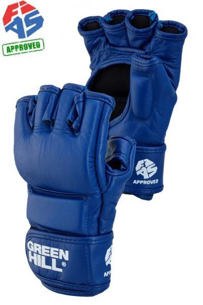 Купить Перчатки для боевого самбо Green Hill fias approved (лиц fias), синие (арт. 23045)