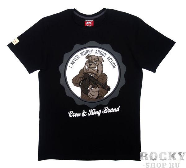 Футболка CrewandKing I Never Worry CrewandKingФутболки<br>Стильная футболка с агрессивным принтом. 100% хлопок.<br><br>Размер INT: L
