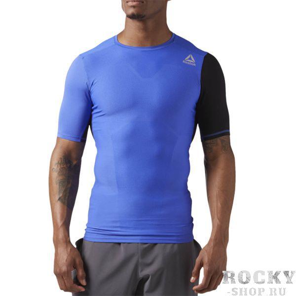 Компрессионная футболка Reebok CrossFit Activchill VENT ReebokФутболки<br>Спортивная футболка Reebok CrossFit Activchill VENT. Начни новый комплекс упражнений CrossFit уверенно в этой дышащей футболке. Жаккардовая спинка из материала с технологией ACTIVCHILL прекрасно пропускает воздух. Ты точно оценишь это, когда на тренировке станет особенно жарко. Состав: нейлон, эластан. Уход: машинная стирка в холодной воде, деликатный отжим, не отбеливать.<br><br>Размер INT: L