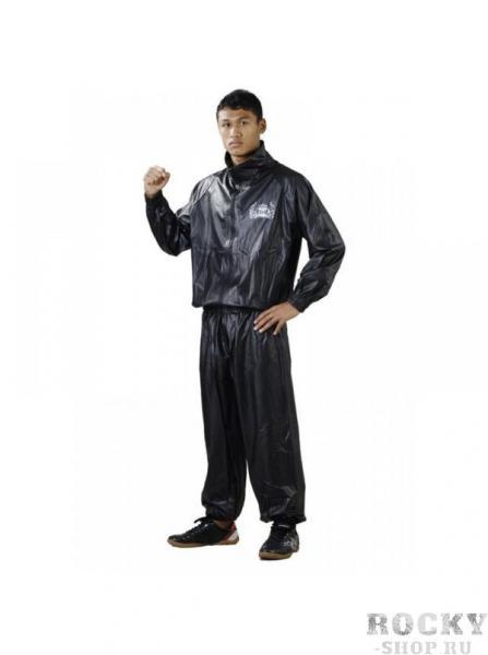 Костюм сауна, черный Top KingКостюмы-сауны<br>Сделанный из прочного полиэстера костюм-сауна Top King стимулирует активное потоотделение, что способствует быстрому снижению веса. Спортсмены используют его при подготовке к соревнованиям – для попадания в определённую весовую группу. Костюм состоит из куртки и штанов. Манжеты плотно прилегают к запястьям и лодыжкам, предотвращая вентиляцию.<br>