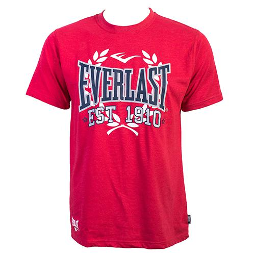 Футболка Everlast Sports Marl 1910 Red EverlastФутболки<br>Футболка Everlast Sports Marl 1910 выполнена из хлопка с добавлением полиэстера. Круглый вырез горловины, короткие рукава, контрастный логотип бренда. Подойдет как для тренировочного процесса, так и для повседневной носки. Состав: Хлопок - 90%, Полиэстер - 10%<br><br>Размер INT: L