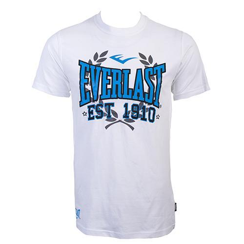 Футболка Everlast Sports Marl 1910 White EverlastФутболки<br>Футболка Everlast Sports Marl 1910 выполнена из хлопка с добавлением полиэстера. Круглый вырез горловины, короткие рукава, контрастный логотип бренда. Подойдет как для тренировочного процесса, так и для повседневной носки. Состав: Хлопок - 90%, Полиэстер - 10%<br><br>Размер INT: M
