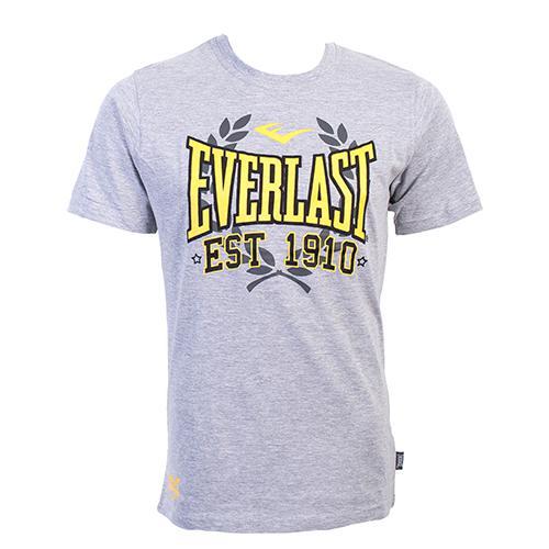 Футболка Everlast Sports Marl 1910 Grey EverlastФутболки<br>Футболка Everlast Sports Marl 1910 выполнена из хлопка с добавлением полиэстера. Круглый вырез горловины, короткие рукава, контрастный логотип бренда. Подойдет как для тренировочного процесса, так и для повседневной носки. Состав: Хлопок - 90%, Полиэстер - 10%<br><br>Размер INT: L