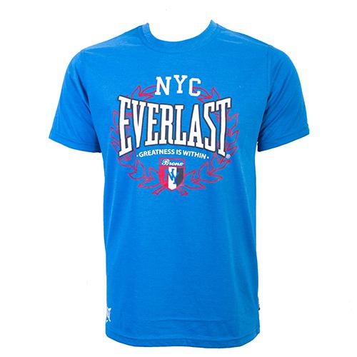 Футболка Everlast Sports Marl NYC Navy EverlastФутболки<br>Футболка Everlast Sports Marl NYC выполнена из хлопка. Модель прямого кроя. Идеально подойдет для тренировок и для повседневного ношения. Круглый вырез горловины, короткие рукава, контрастный логотип бренда Everlast. Состав: Хлопок - 60%, Полиэстер - 40%.<br><br>Размер INT: L