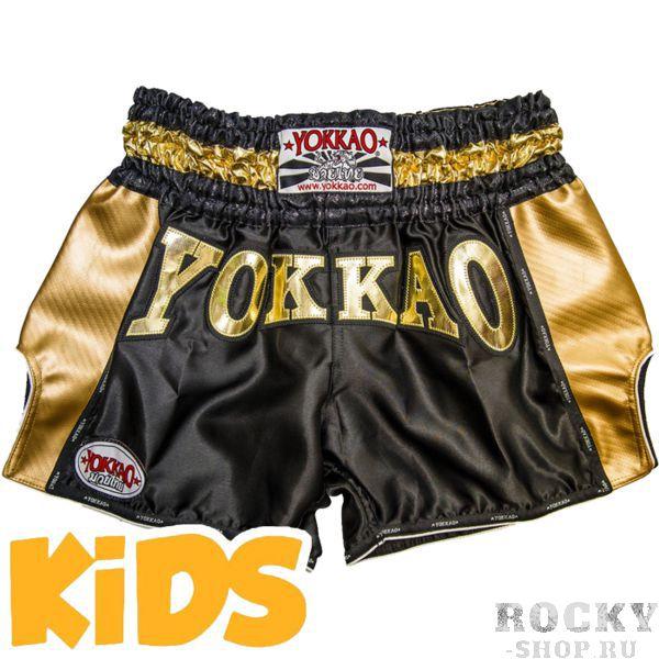 Детские тайские шорты Yokkao YokkaoДля тайского бокса<br>Детские шорты для тайского бокса Yokkao. Широкий эластичный пояс гарантирует комфорт и надежную фиксацию на поясе. Сделано в Тайланде. Состав: 100% полиэстер.<br><br>Размер: 6 лет