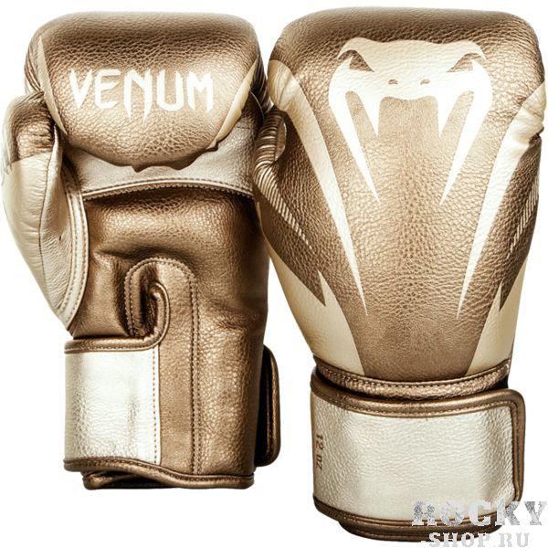 Купить Боксерские перчатки Venum Impact Gold 16 oz (арт. 23451)