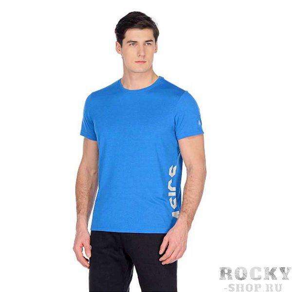 Мужская беговая футболка ASICS 155235 8095 ESNT DBL GPX SS TOP  AsicsФутболки<br>•Мужская спортивная футболка прямого кроя выполнена из тонкого трикотажа. •Футболка дополнена боковым принтом с фирменным логотипом. •Светоотражающая перфорация на спине обезопасит вас в темное время суток.<br><br>Размер INT: 2XL