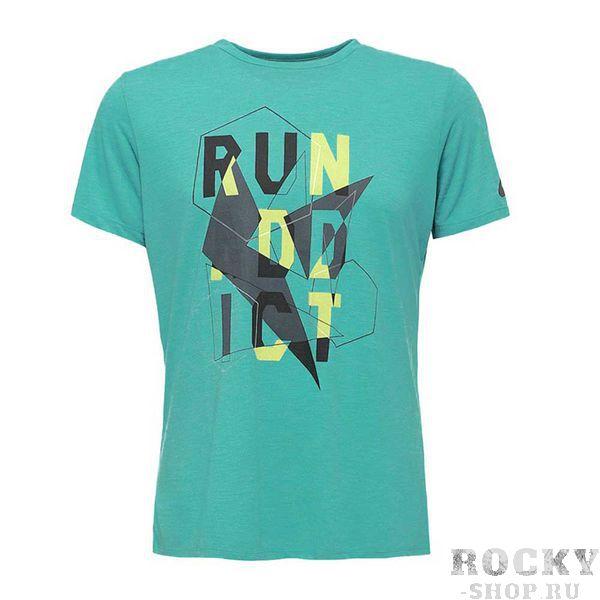 Купить Мужская беговая футболка ASICS 141265 4031 GRAPHIC SS TOP Asics (арт. 23685)
