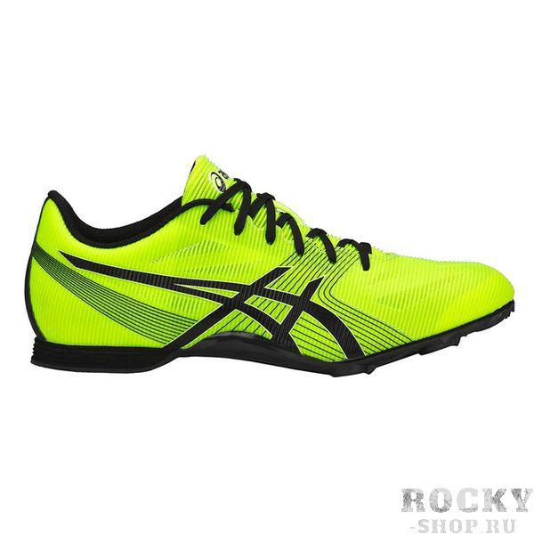 Шиповки ASICS G502Y 0790 HYPER MD 6 AsicsКроссовки<br>ASICS HYPER MD 6 - профессиональные шиповки со сменными шипами из синтетической кожи для спортсменов, которые ищут легкую спринтерскую обувь для коротких и средних дистанций. Синтетическая кожа и верх из сетчатого материала создают необычную легкость, комфорт, достигается воздухопроницаемость и великолепная посадка. Новая легкая пластина утолщена в середине подошвы, что обеспечивает оптимальную поддержку стопы, повышает износостойкость и сцепление с любой поверхностью. Подошва в пяточной области выполнена из вспененного материала EVA, который способствует хорошей амортизации. В комплекте съемные шипы длиной 6 мм с ключом, которые можно менять при их изнашивании. Технологии, использованные в модели ASICS HYPER MD 6:•NC Rubber. Подошва, состоящая из композита с повышенным содержанием натурального каучука, мягче, чем традиционные виды твердой резины, обеспечивает улучшенное сцепление с зальным покрытием. •SpEVA. Материал средней подошвы, который способствует скорейшему восстановлению после сжатия и уменьшает вероятность пробоя промежуточной подошвы. •Racing Lasting. Колодка Соревнование. Идеальная колодка для соревнований. •Board Lasting. Стабильная колодка.<br><br>Размер USA: 10