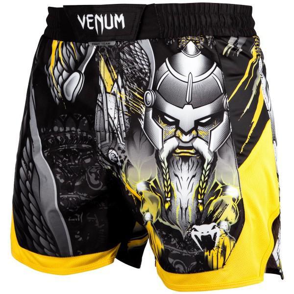 Шорты Venum Viking 2.0 VenumШорты ММА<br>ММА шорты Venum Viking 2. 0. При разработке шорт был учтен весь богатый научный опыт Venum по созданию бойцовской экипировки ( одежды ММА ). Укороченный крой. Идеально подходят и для тренировочного процесса, и для соревнований даже самого высокого уровня. Материал, использованный для создания бойцовских шорт Venum - это 100% высококачественная легка микрофибра ( полиэстер ). Шорты мма venum очень легкие, но при этом прочные. Благодаря тянущимися материалу, эластичной вставке и боковым разрезам мма шорты Venum не создают никакого дискомфорта бойцу ни в стойке, ни в партере. Крепятся шорты на поясе с помощью липучки и встроенного в пояс шнурка. Рисунок полностью сублимирован в ткань. он не потрескается и не сотрется! Уход: машинная стирка в холодной воде, деликатный отжим, не отбеливать. Состав: 100% полиэстер.<br><br>Размер INT: XS