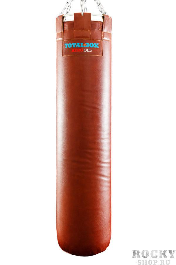 Купить Боксерский мешок TOTALBOX серия Proffi , кожа, коричневый Aquabox 35×120см, 55кг (арт. 24021)