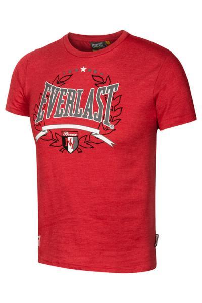 Детская футболка Everlast NY red EverlastФутболки<br>Для всех маленьких любителей бокса и их родителей, мы предлагаем детскую коллекцию футболок Everlast, на каждый день. В производстве футболок, для нанесения рисунка используется запатентованная технология «SILK SCREEN PRINTING». В состав футболок входит натуральный хлопок, благодаря чему, ткань приятна для носки и уменьшается возможность раздражения кожи, а добавленные синтетические волокна, позволят на долгое время сохранить первоначальный внешний вид.<br><br>Размер INT: 134-140 см