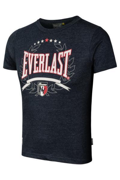 Детская футболка Everlast NY navy EverlastФутболки<br>Для всех маленьких любителей бокса и их родителей, мы предлагаем детскую коллекцию футболок Everlast, на каждый день. В производстве футболок, для нанесения рисунка используется запатентованная технология «SILK SCREEN PRINTING». В состав футболок входит натуральный хлопок, благодаря чему, ткань приятна для носки и уменьшается возможность раздражения кожи, а добавленные синтетические волокна, позволят на долгое время сохранить первоначальный внешний вид.<br><br>Размер INT: 158 см