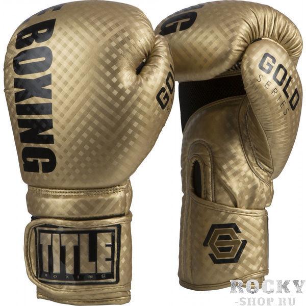 Боксерские перчатки Title Gold series TITLE 14 oz (арт. 24090)  - купить со скидкой