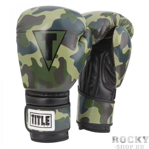 Боксерские перчатки Title Camo TITLE 12 oz (арт. 24097)  - купить со скидкой