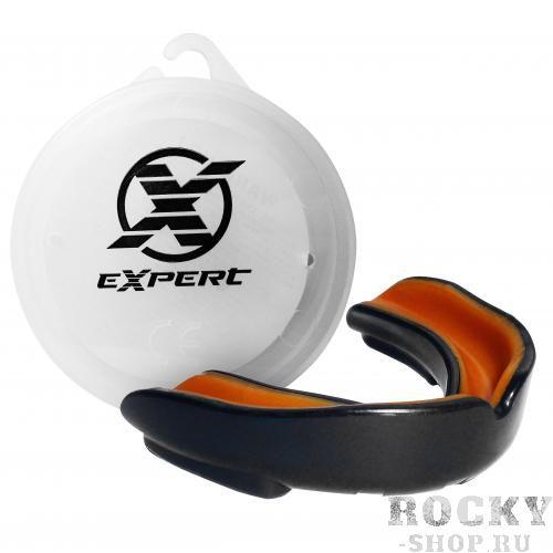 Купить Детская капа Fight Expert, черно-оранжевая Flamma (арт. 24116)