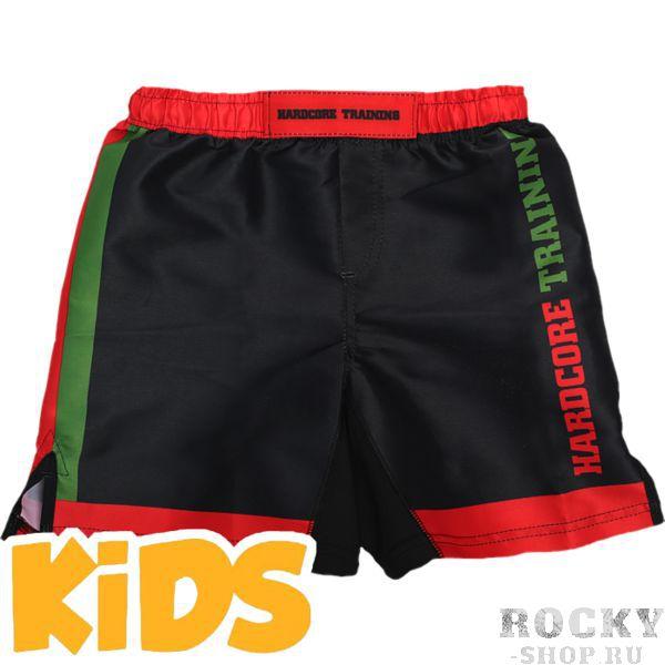 Детские шорты Hardcore Training Red-Green Hardcore TrainingШорты ММА<br>Детские шорты Hardcore Training Red-Green. Данные шорты отлично подойдут для работы в партере и в стойке, для занятий мма, грепплингом, тайским боксом. Ткань очень легкая, но достаточно прочная. Материал скользящий, не сковывает движений бойцу. Так же для комфортного поединка предусмотрены боковые разрезы на бедрах и эластичная вставка в промежности. Удерживаются шорты благодаря шнурку и резинке, спрятонным во внутренней части пояса. Рисунок на мма шортах Hardcore Training полностью сублимирован в ткань. Состав: 100% полиэстер. Уход: машинная стирка в холодной воде, не отбеливать.<br><br>Размер INT: 10 лет