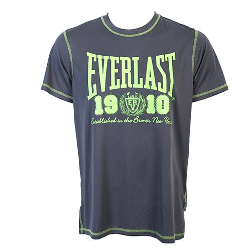 Футболка Everlast Sports Brights 1910 Grey EverlastФутболки<br>Футболка Everlast Sports Brights 1910 выполнена из гладкого трикотажа с контрастной отстрочкой. Круглый вырез горловины, короткие рукава. Идеальна для тренировок и повседневного ношения. Состав: Полиэстер - 100%.<br><br>Размер INT: m
