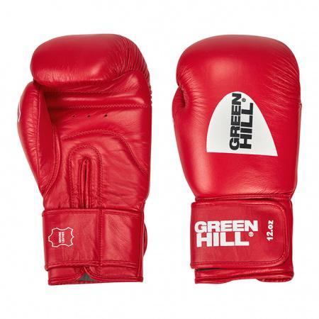 Боксерские перчатки Green Hill Pro, одобрено Федерацией Бокса РФ, 12 oz Green Hill