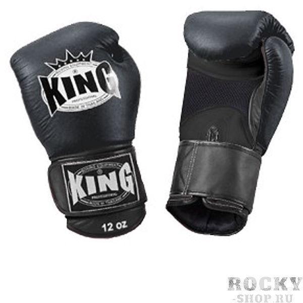 Перчатки боксерские тренировочные, липучка, 10 OZ KingБоксерские перчатки<br>Липучка на запястье<br> Улученный упругий материал<br> Материал - высококачественна кожа<br> «Дышащая кожа» держит руки в прохладе<br><br>Цвет: Черный