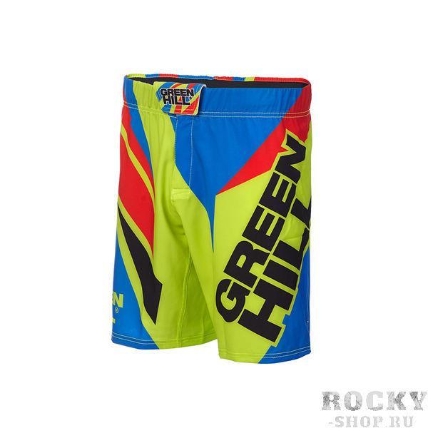 Шорты для MMA Green Hill Green/Blue (арт. 24730)  - купить со скидкой
