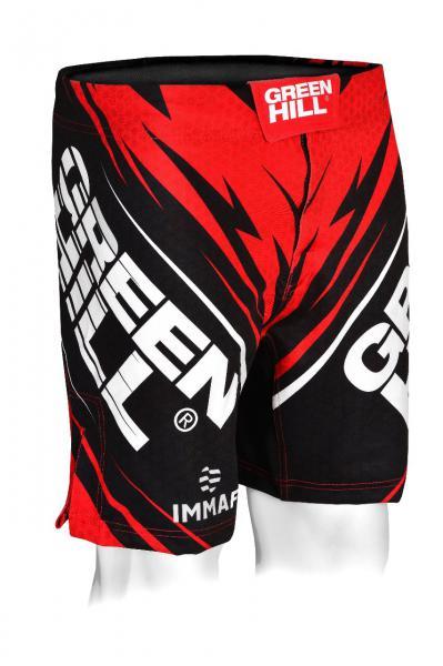 Шорты для MMA Green Hill IMMAF красные (арт. 24738)  - купить со скидкой