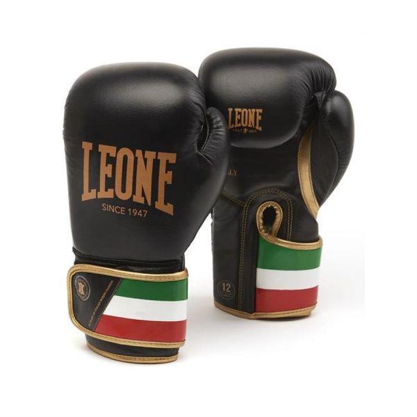 Боксерские перчатки Leone GUANTI BOXE ITALY 47 черные, 16 унций Leone фото
