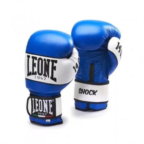 Боксерские перчатки Leone 1947 SHOCK GN047 синие, 10 унций Leone