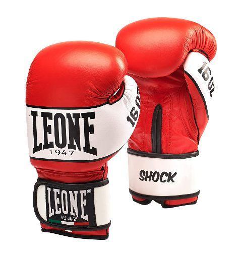 Купить Боксерские перчатки Leone 1947 SHOCK GN047 красные 12 унций (арт. 25083)