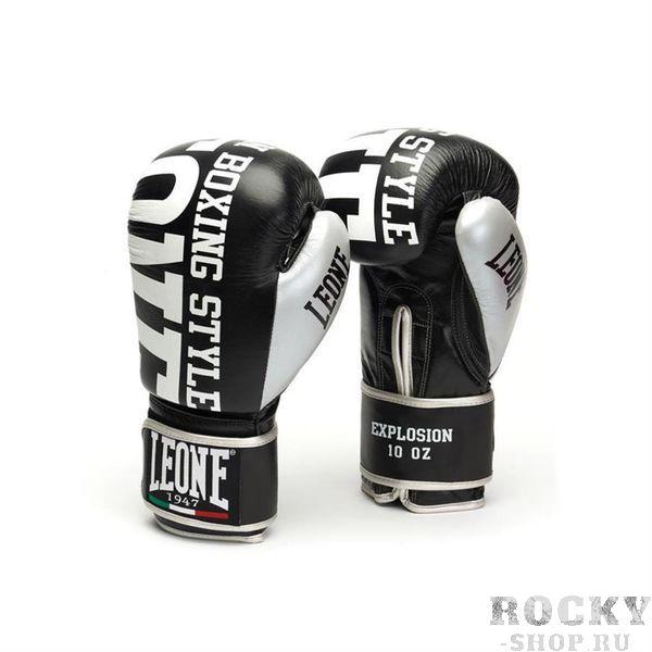 Боксерские перчатки Leone 1947 EXPLOSION GN055 черные, 16 унций