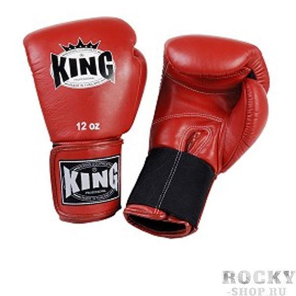 Перчатки боксерские тренировочные, липучка, 14 OZ KingБоксерские перчатки<br>Перчатки боксерские на липучке <br> Удлиненное запястье (для лучей фиксации)<br> Высококачественная кожа<br> Фиксация запястье – эластичная резинка<br> Выбор профессионалов<br><br>Цвет: Красный