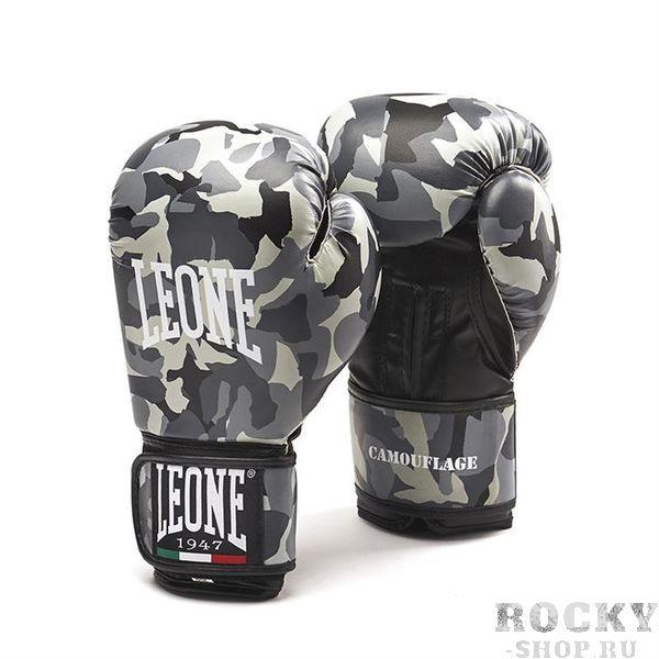 Боксерские перчатки LEONE 1947 CAMOUFLAGE GN060 grey Leone 10 унций (арт. 25157)  - купить со скидкой