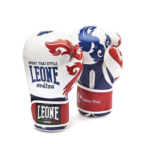 Боксерские перчатки Leone MUAY THAI GN031 белые, 16 унций Leone