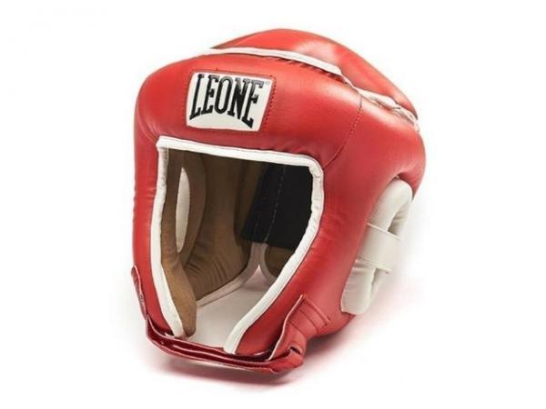 Боксерский шлем Leone 1947 COMBAT CS410 красный Leone