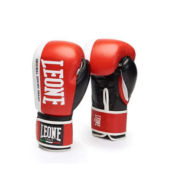Купить Боксерские перчатки LEONE 1947 CHALLENGER GN201 Красные Leone 12 унций (арт. 25174)