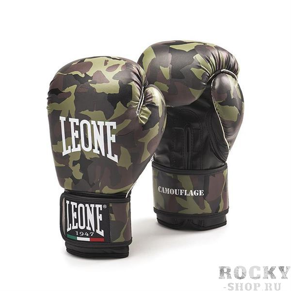 Купить Боксерские перчатки LEONE 1947 CAMOUFLAGE GN060 Green Leone 14 унций (арт. 25180)