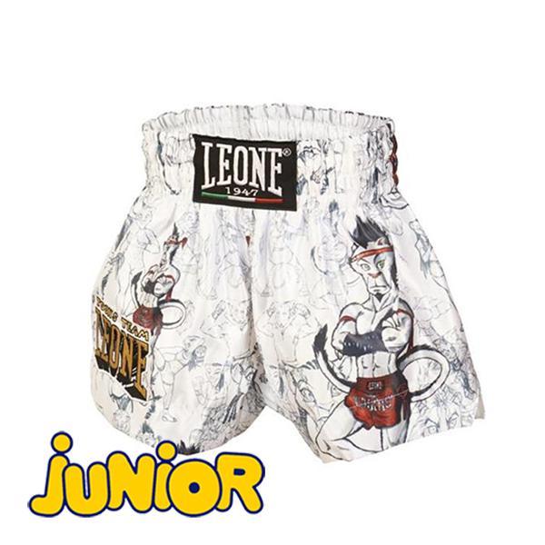 Детские шорты для тайского бокса LEONE 1947 RAMON JR THAI SHORTS ABJ01 White Leone (арт. 25188)  - купить со скидкой