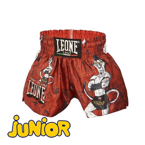 Купить Детские шорты для тайского бокса LEONE 1947 RAMON JR THAI SHORTS ABJ01 Red Leone (арт. 25189)