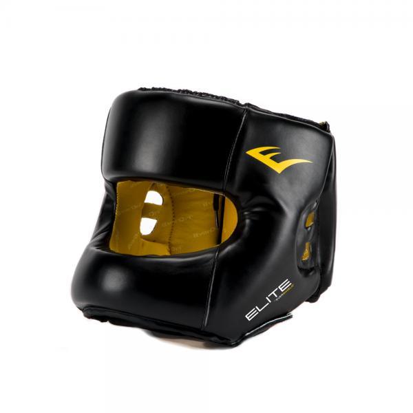 Боксерский шлем с бампером Everlast Elite PU, Черный Everlast