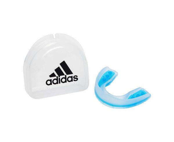 Купить Капа одночелюстная Single Mouth Guard Dual Density прозрачно-синяя Adidas (арт. 25566)