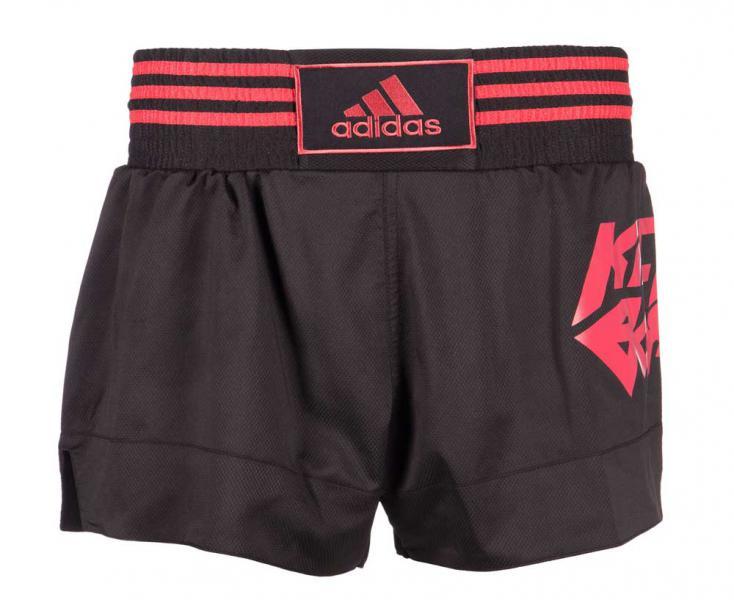 Купить Шорты для кикбоксинга Kick Boxing Short Micro Diamond черно-красные Adidas (арт. 25581)