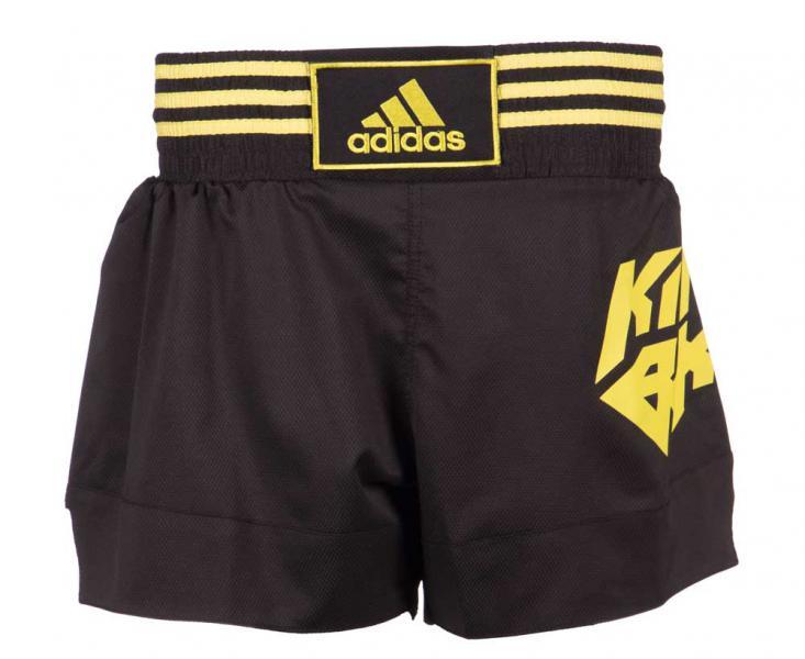 Шорты для кикбоксинга Kick Boxing Short Micro Diamond черно-желтые Adidas (арт. 25582)  - купить со скидкой