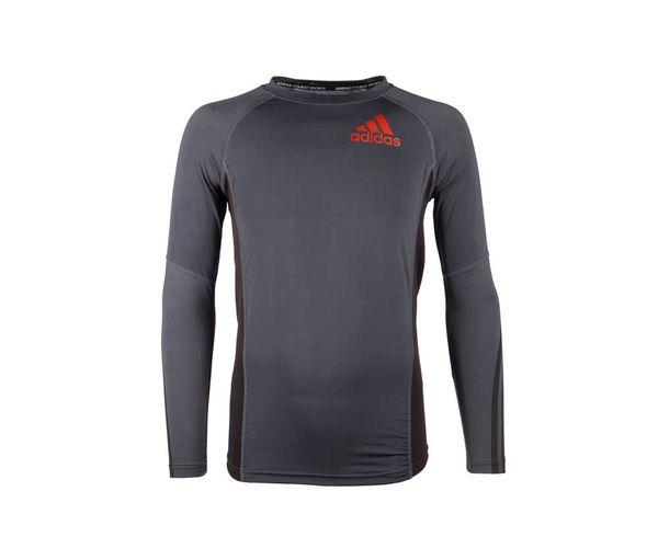 Купить Футболка Компрессионная (Рашгард) Grappling Rashguard Long Sleeve Черно-Красная Adidas