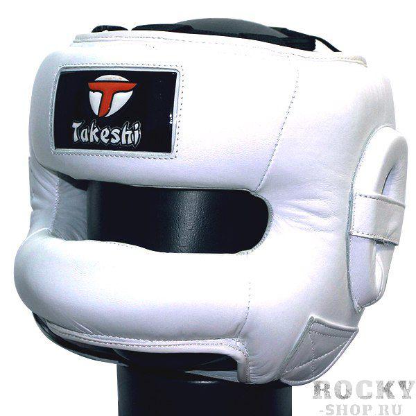 Шлем боксерский с бампером Takeshi Fight Gear, White FG (арт. 25642)  - купить со скидкой