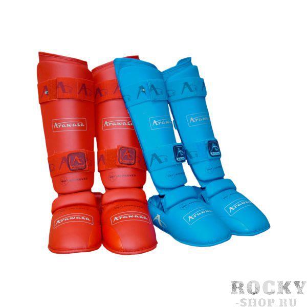 Купить Защита голень-стопа Arawaza Shin / Instep WKF красный (арт. 25757)