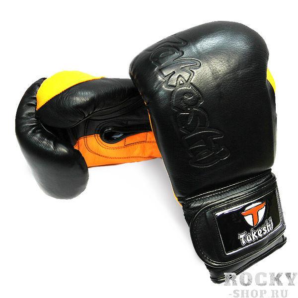 Перчатки боксерские Takeshi Fight Gear Black/Orange, 14 OZ FG