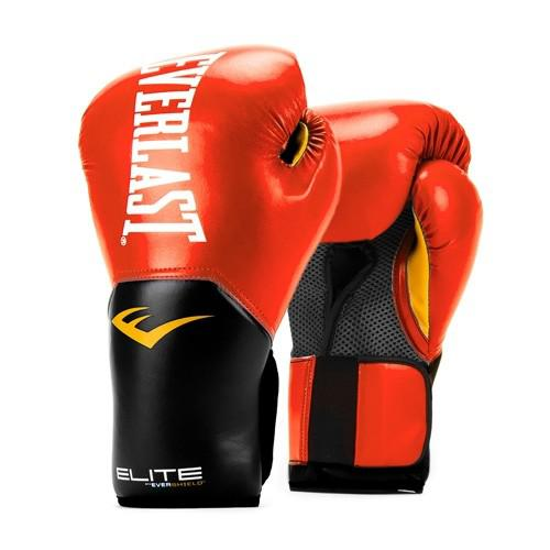 Купить Перчатки боксерские Everlast New Pro Style Elite, Red 12 oz (арт. 26475)