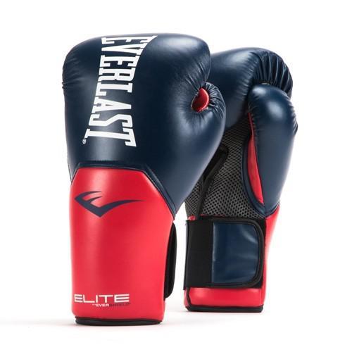 Купить Перчатки боксерские Everlast New Pro Style Elite, Blue/Red 14 oz (арт. 26486)